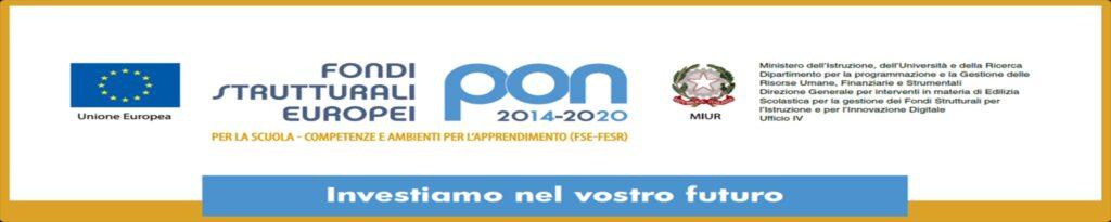 FONDI P.O.N. 2014-2020 – PUBBLICITA' INIZIATIVA